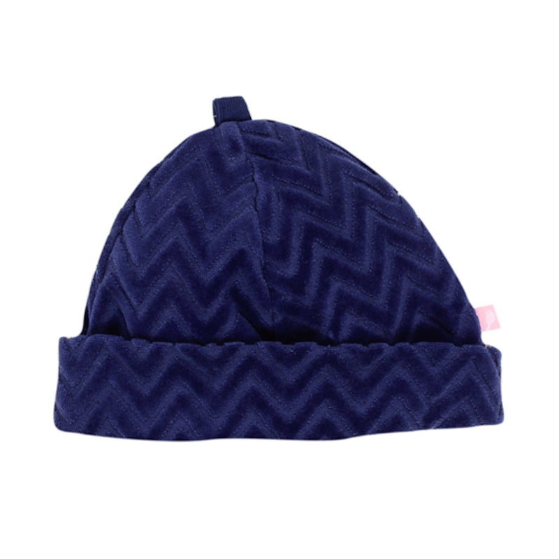 Fox & Finch Baby Giant Chevron Beanie - Blue Beanies Fox & Finch Baby - Little Styles