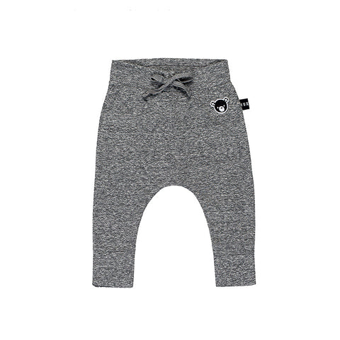 Huxbaby Drop Crotch Pant - Charcoal Slub