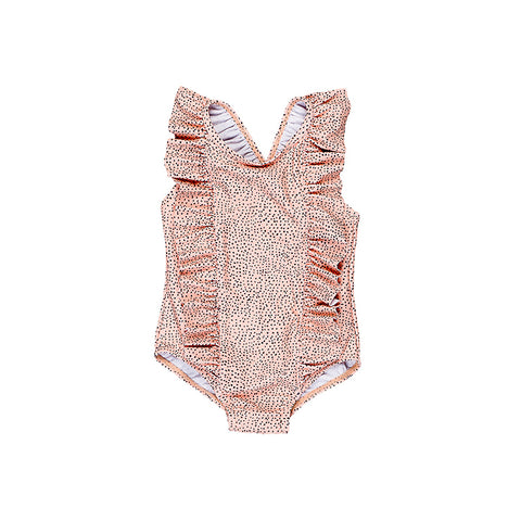 Huxbaby Fleck Swimsuit - Bright Rust