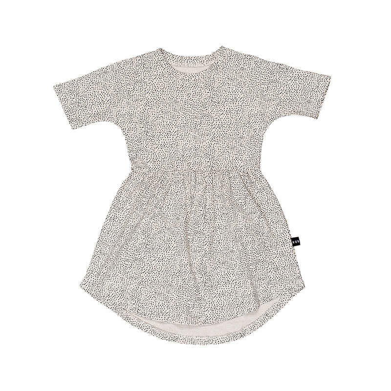 Huxbaby Fleck Swirl Dress - Almond Dress Huxbaby - Little Styles