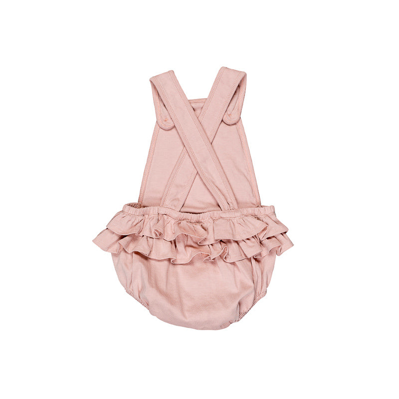 Huxbaby Flower Frenchie Playsuit - Rose Dust Onesies Huxbaby - Little Styles