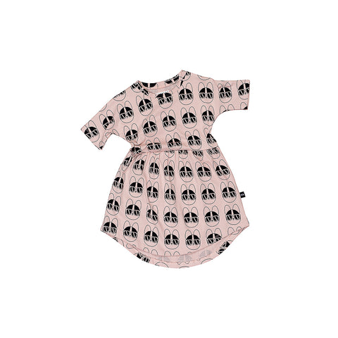 Huxbaby French Shades Swirl Dress - Rose Dust