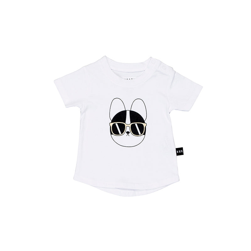 Huxbaby French Shades T- Shirt - White Tops Huxbaby - Little Styles