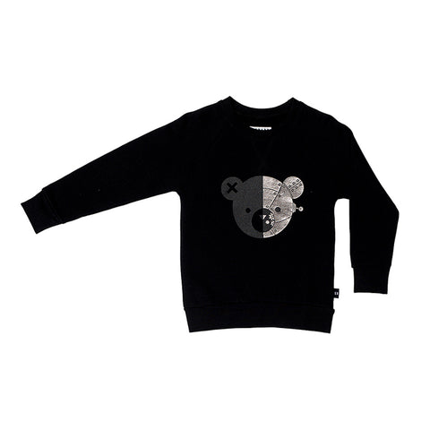 Huxbaby Robo Bear Sweatshirt - Black