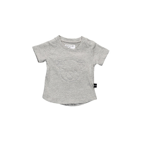 Huxbaby Stitch Bear T- Shirt - Grey Marle