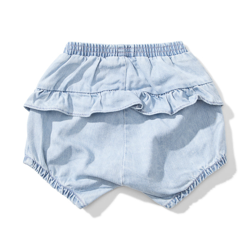 Lil Missie Boomer Denim Short - Acid Blue Shorts Munster - Little Styles