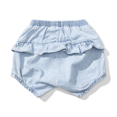 Lil Missie Boomer Denim Short - Acid Blue