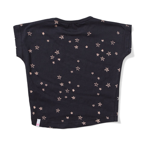 Lil Missie Bright Jersey Short Sleeve Tee - Soft Black
