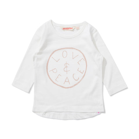 Lil Missie Dreams Jersey Long Sleeve Tee - Cream