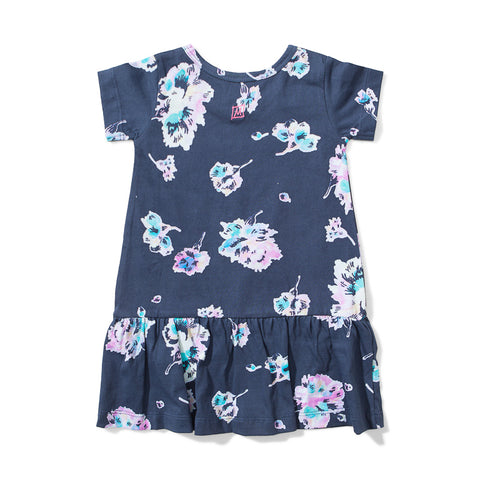 Lil Missie Nest Jersey Dress - Water Floral