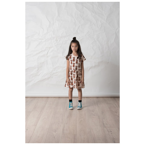 Littlehorn Barrel of Monkeys Dress - Peach