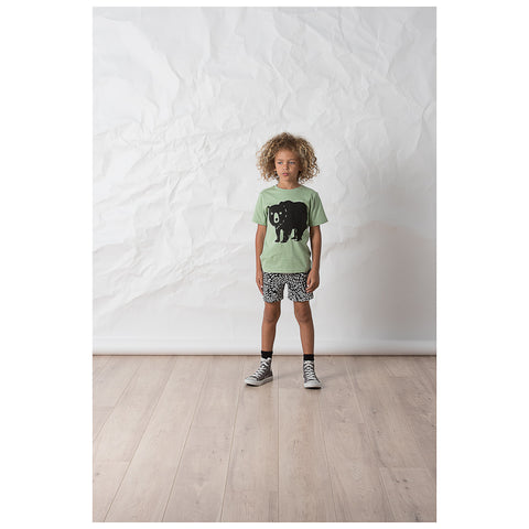 Littlehorn Bear Stamp Tee - Khaki