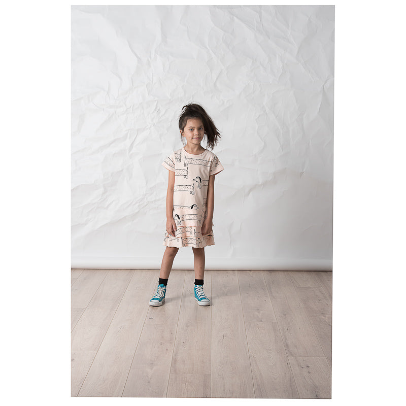 Littlehorn Dachshund Dress - Peach Dresses Littlehorn - Little Styles