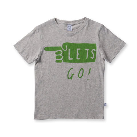 Littlehorn Lets Go Tee - Light Grey