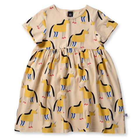 Littlehorn Magical Horse Dress - Sand