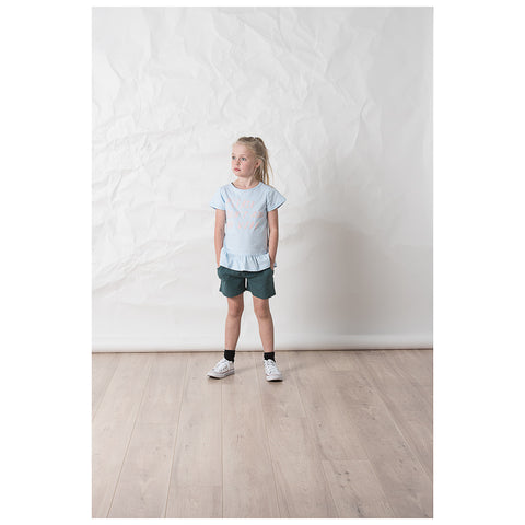 Littlehorn Ruffle Tee - Light Blue