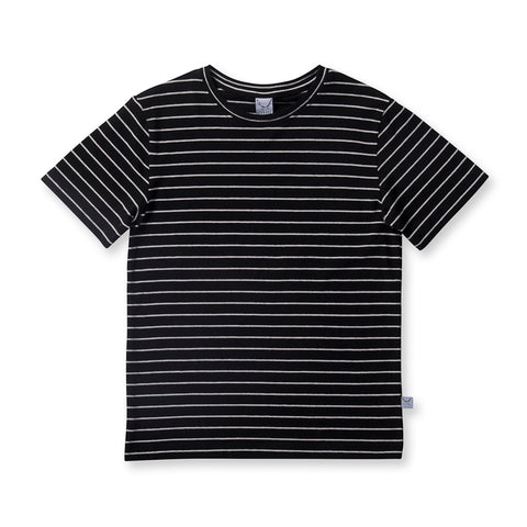 Littlehorn Standard Stripe Tee - Black Stripe