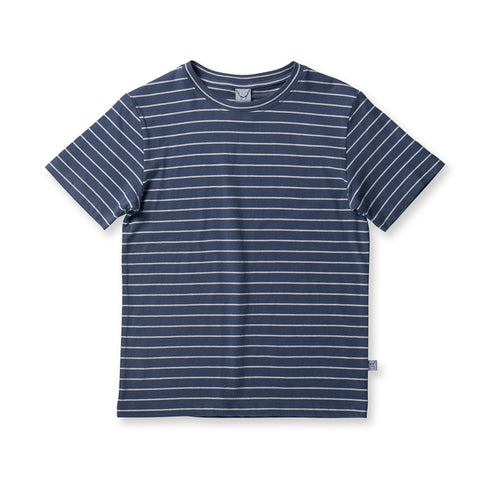 Littlehorn Standard Stripe Tee - Blue Stripe