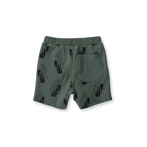 Littlehorn Weee Sweat Short - Moss