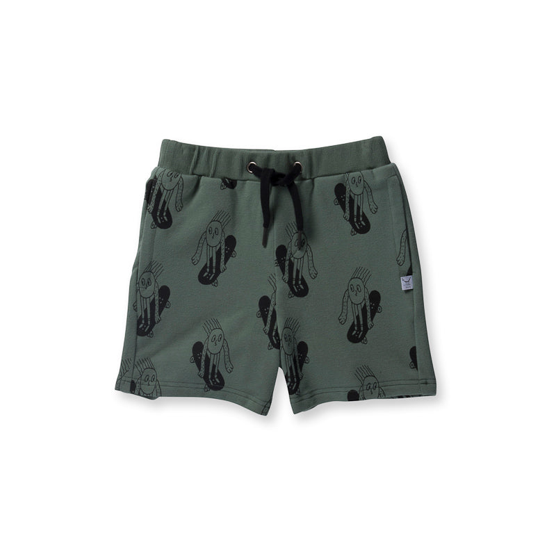 Littlehorn Weee Sweat Short - Moss Shorts Littlehorn - Little Styles