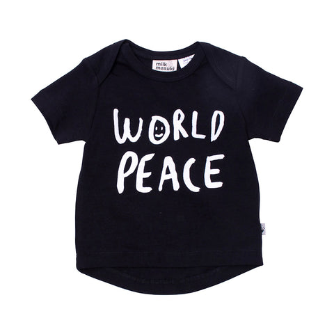 Milk & Masuki Baby SS Tee Peace Placement