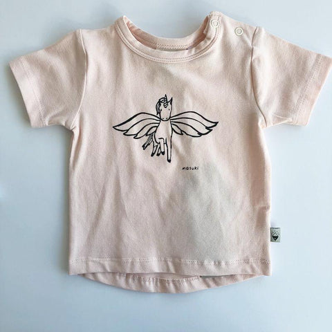 Milk & Masuki Baby Short Sleeve Tee Unicorn Placement