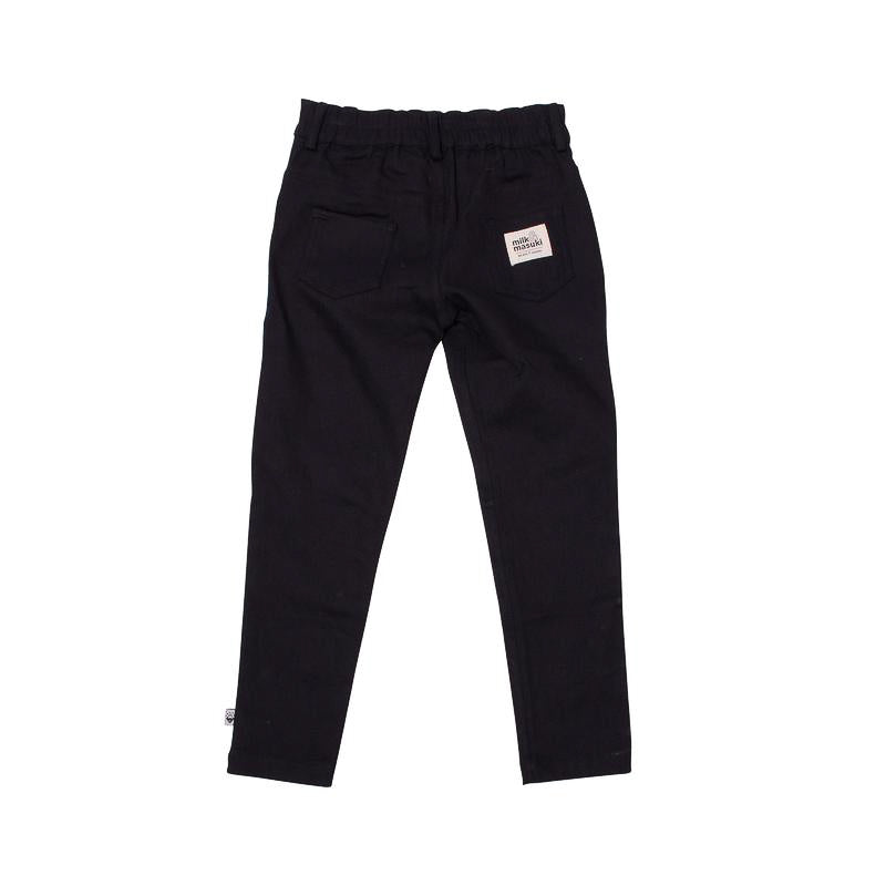 Milk & Masuki Twill Pants - Black Pants Milk & Masuki - Little Styles