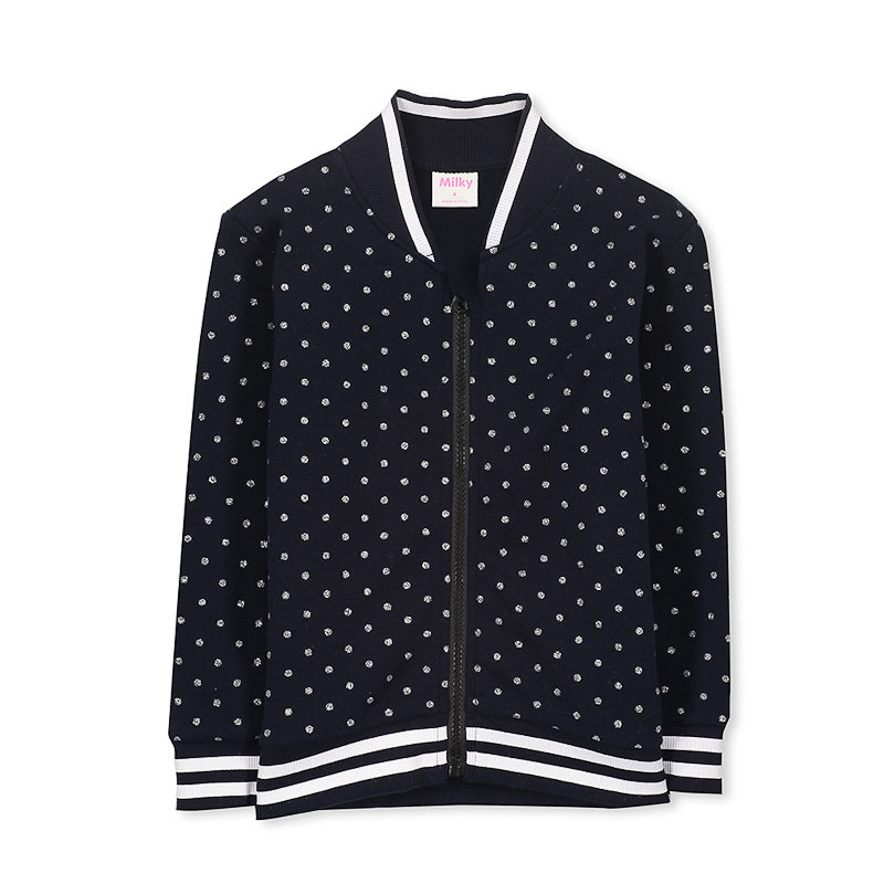 Milky Bomber Jacket - French Navy Jackets Milky - Little Styles