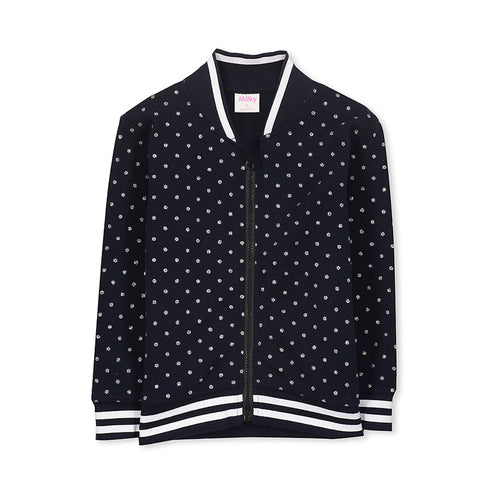 Milky Bomber Jacket - French Navy