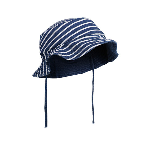 Milky Bucket Hat - Indigo Stripe