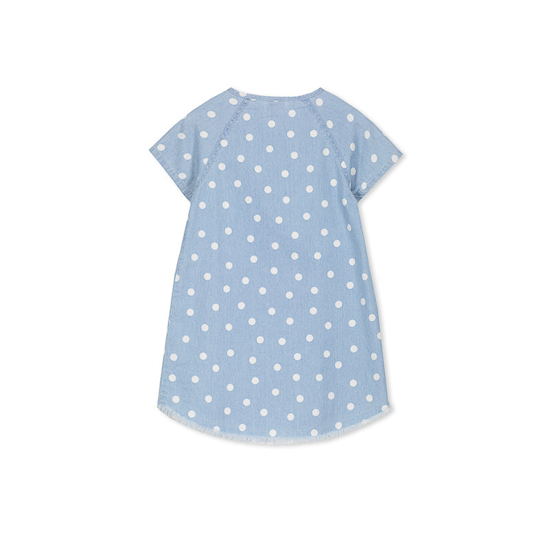 Milky Chambray Spot Dress Dress Milky - Little Styles