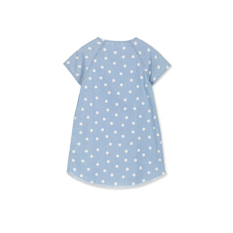 Milky Chambray Spot Dress