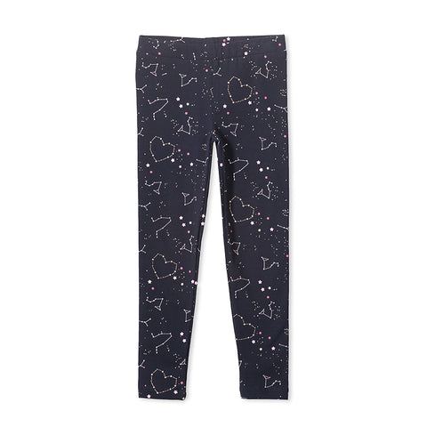 Milky Constellation Legging - French Navy