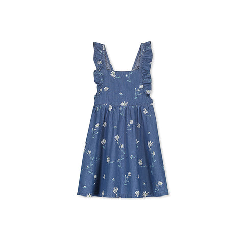 Milky Daisy Dress - Chambray