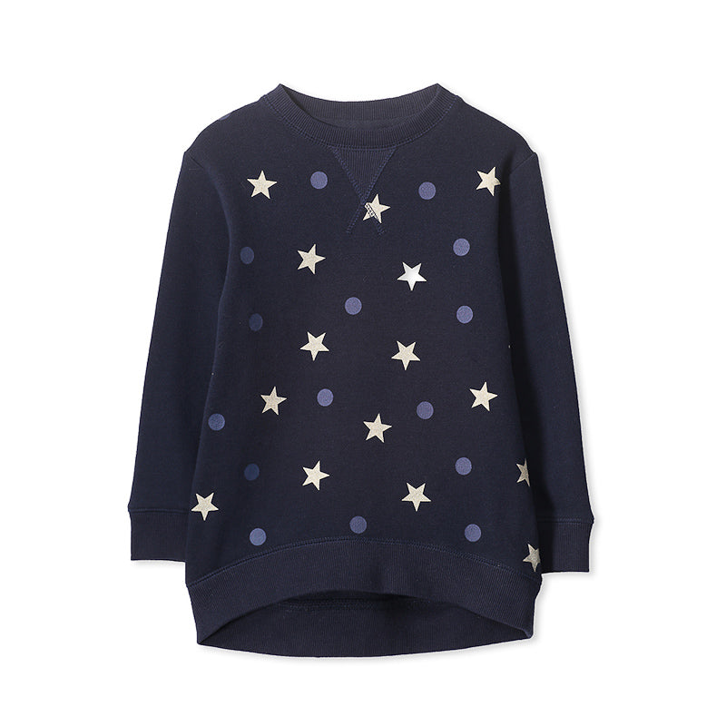 Milky Hi Lo Sweat - French Navy Jackets Milky - Little Styles