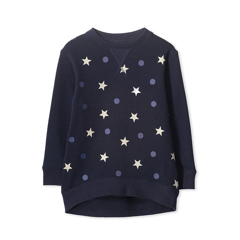 Milky Hi Lo Sweat - French Navy