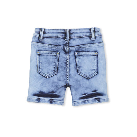 Milky Knit Denim Short