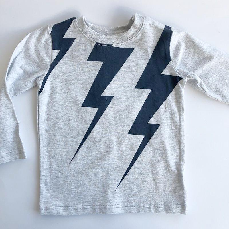 Milky Lightning Tee - Speckle Marle Tops Milky - Little Styles