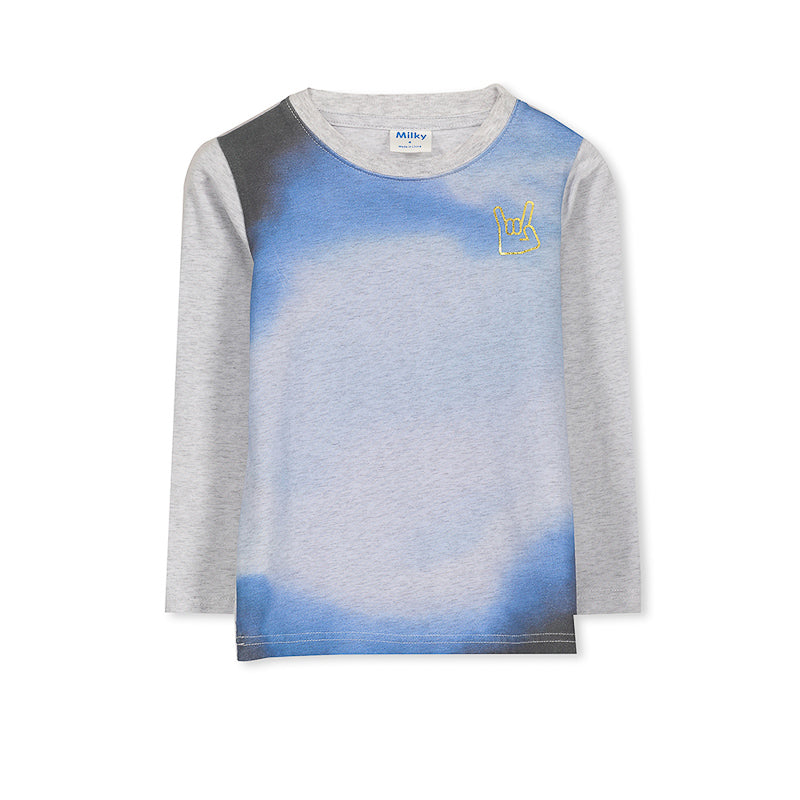 Milky Marble Tee - Silver Marble Tops Milky - Little Styles