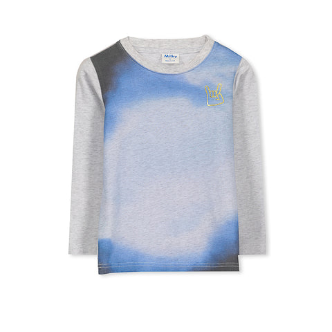 Milky Marble Tee - Silver Marble