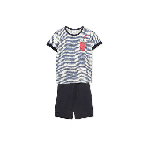 Milky Midnight Snack Pyjamas - Wiggle Stripe