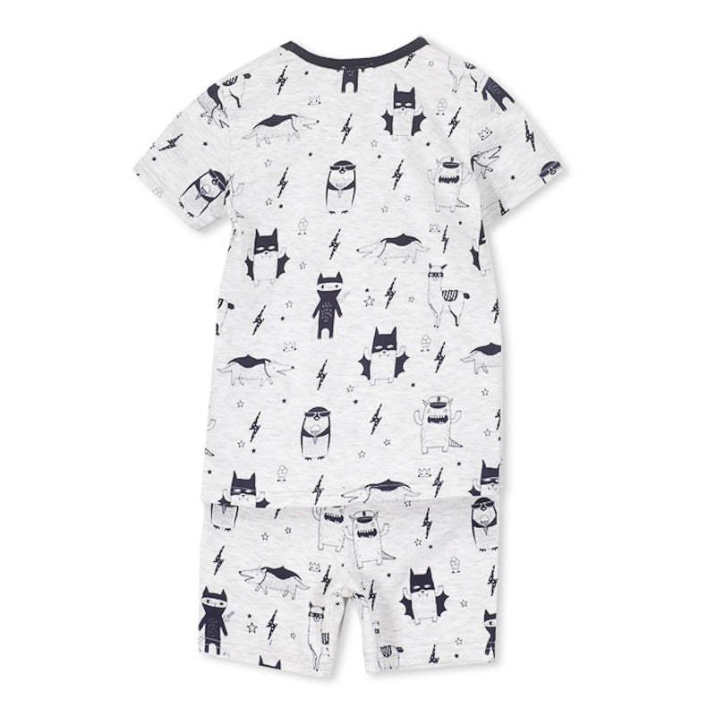 Milky Monster Pyjamas - Silver Marle Pyjamas Milky - Little Styles