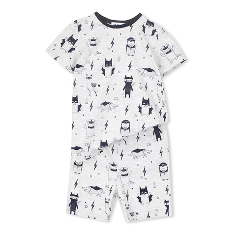 Milky Monster Pyjamas - Silver Marle
