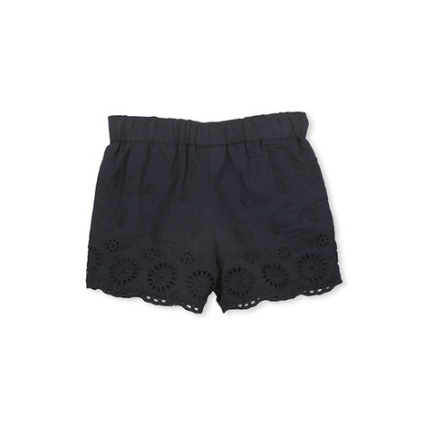 Milky Navy Broderie Short - French Navy