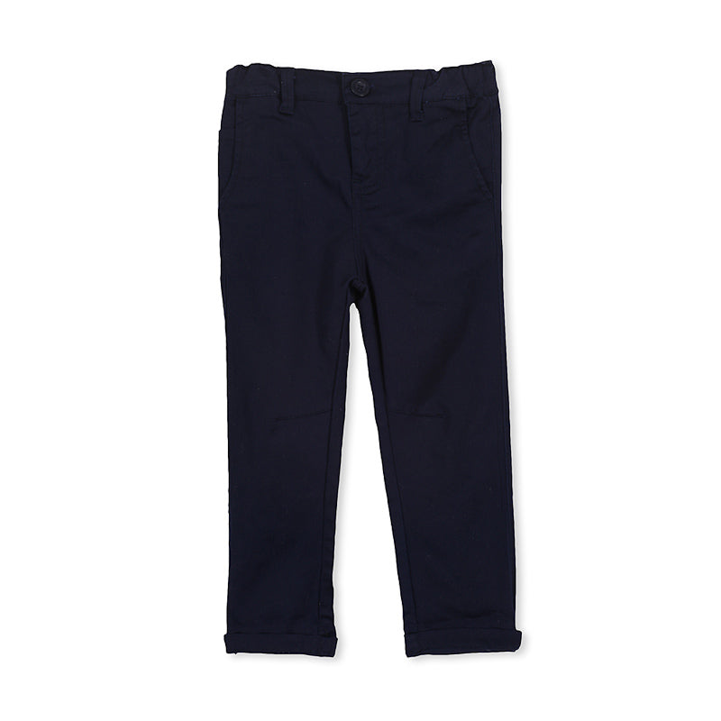 Milky Navy Chino - French Navy Pants Milky - Little Styles