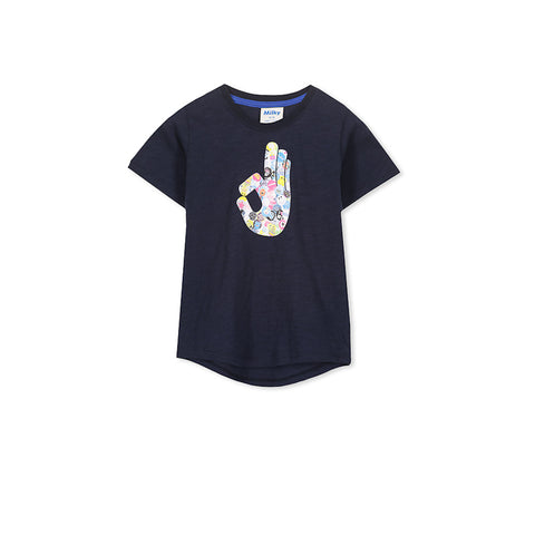 Milky Okay Tee - French Navy