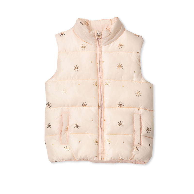 Milky Puffer Vest - Dusty Blush Jackets Milky - Little Styles