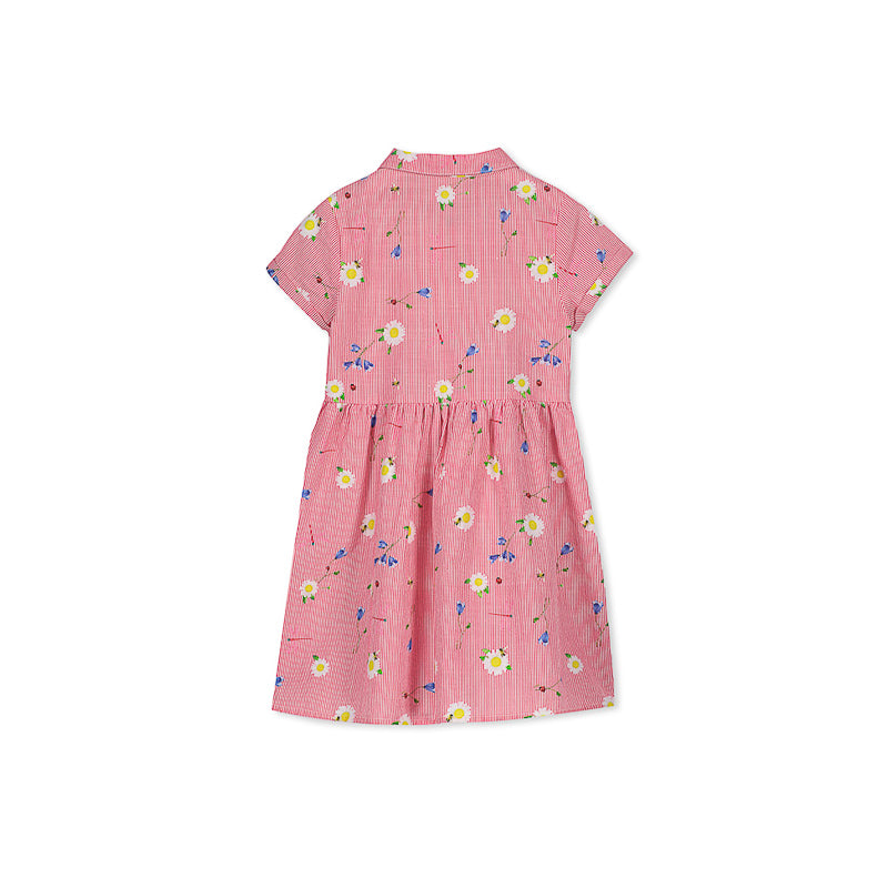 Milky Raspberry Stripe Dress Dresses Milky - Little Styles
