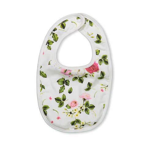 Milky Rosebloom Bib - White