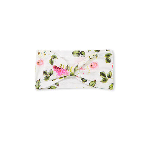 Milky Rosebloom Headband - White